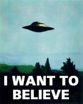 "Mulder's Poster - ""I Want To Believe"""